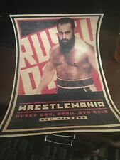 WWE WWF NXT wrestlemania 34  Limited edition rusev day poster