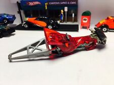 Hotwheels  tail dragger translucent red rare tail dragger
