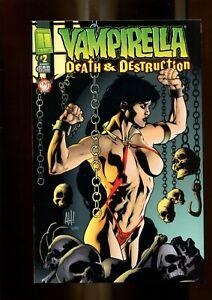 VAMPIRELLA 2 DEATH & DESTRUCTION  (9.6)  ADAM HUGHES COVER HARRIS COMICS (B038)