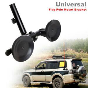 ATV Off-road Vehicle Flag Pole Car Mount Bracket Adjustable Sucker Support Kit