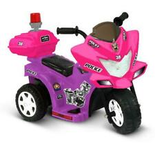 Ride On Tricycle 6Volt Battery Powered Kid Motor Purple/Pink With Flashing Siren