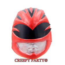 Movie The Power Rangers Latex Mask Halloween Cospaly Helmet Face Full Adult Prop