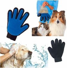 Grooming Glove Brush Hair Dog Pet Cat Massage Cleaning Removal Touch Magic True