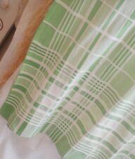 GEOMETRIC ART DECO VINTAGE TABLECLOTH IN GREENS & WHITE TT576