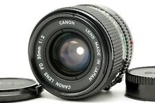 【EXC++++】 Canon New FD NFD 35mm f/2 Wide Angle for SLR MF Lens w/ Cap From JAPAN