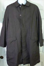 40R BRIARCLIFF Trench Coat Jacket Gray Removable Wool Liner Button Front  VTG