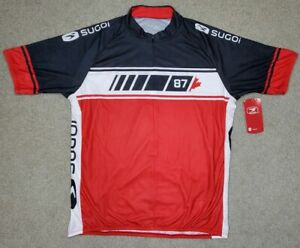 Sugoi Men's Evolution Cycling Jersey Size 2XL NWT 3/4 zip