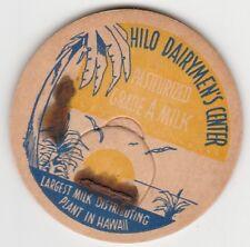 MILK BOTTLE CAP. HILO DAIRYMEN'S CENTER. HILO. HI.