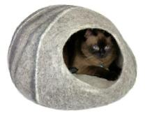 Extra Large Cat Cave, Cat Bed, Wool Cat Cave - Xl Gray