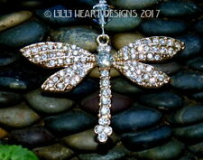 Rhinestone Dragonfly Swarovski Beads Car Charm Suncatcher Lilli Heart Designs