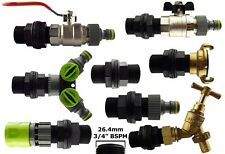 """water butt/water tank outlet kit,3/4"""" bspm threaded connector+range of outlets"""