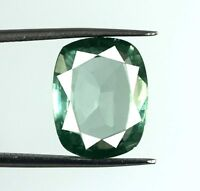 Green Sapphire Natural Cushion Gemstone 8.50 Ct VS Clarity AGSL Certified D863