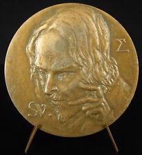 Médaille André Suarès écrivain poète Chroniques de Caërdal chouette owl medal