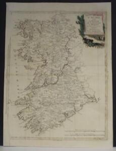 CONNAUGHT & MUNSTER IRELAND 1778 ZATTA  ANTIQUE ORIGINAL COPPER ENGRAVED MAP