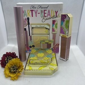 Too Faced Party-Ready Essentials Makeup Set Full Size NIB