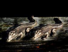 Vintage Egyptian Chaos God Sobek Statue Meme Magic Crocodile Hand Carved SET