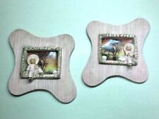 ANTIQUE, MID-CENTURY Decorative Oriental Chalk WALL HANGINGS, PINK
