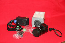 Acti 5301hn Indoor Box Zoom Video Camera Bundle F14 28mm 12mm Lens New Ntsc