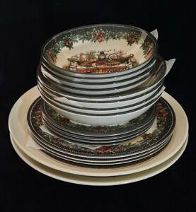 "Dinnerware Royal Stafford ""Christmas Eve"" & ""Christmas Village"""