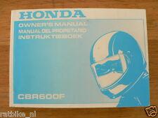 HONDA CBR600F OWNERS MANUAL ORIGINAL 1992,INSTRUKTIEBOEK,MANUAL DEL PROPIETARIO