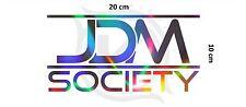 JDM Society Tuning Aufkleber Sticker JDM Japan Hologram Effekt