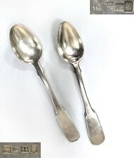 Russian Empire 2 tea spoons SILVER 84 Antique 1872 imperial 48g