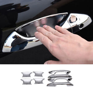 Fit For Honda Accord 2008-2013 Bright Chrome Door Bowl Cup Handle Cover Trim 12X