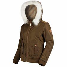 Regatta Womens Berdine Insulated Waterproof Jacket 14 Camo Green Rwp246 3c414l