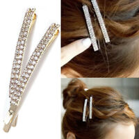New Delicate Side Hair Clip Rhinestones Crystal Hairpin Barrette Simple Charming