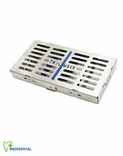 7 Instruments Rack Sterilization Cassette Medical Tools Autoclave Tray Save £28
