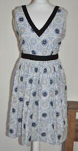 Moschino Cheap & Chic Flower Embroidery Shift Dress UK 6 Ladies