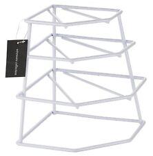 4 Tier WHITE Cupboard Corner Plate Rack/Holder by BUCKINGHAM
