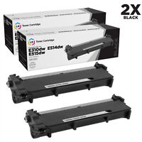 LD Compatible Dell 593-BBKD / P7RMX Set of 2 HY Black Toner Cartridges