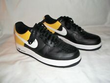 MENS NIKE AIR FORCE 1 BLACK YELLOW SNEAKERS 315122-051 SIZE 10.5 LIKENU COND