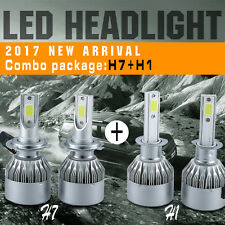 4pcs Combo Package H7 H1 144W 16000LM Car LED Headlight Kits High Low Beam Bulbs