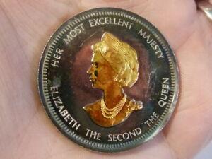 1977 Silver Jubilee ELIZABETH II  Proof Silver & Gold Medal & Certificate #ER1