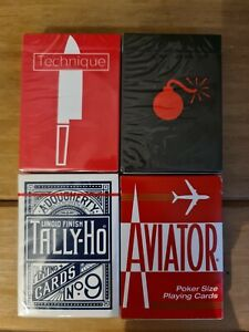 Anyone Worldwide Bombs Technique Tally Ho Aviator Playing Cards Bundle
