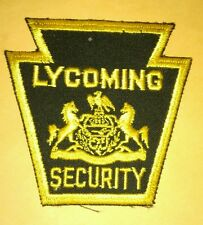 Lycoming College Security Uniform Patch Pennsylvania