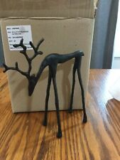 Pottery Barn Bronze sculpted REINDEER Christmas SMALL stag SOLD OUT new