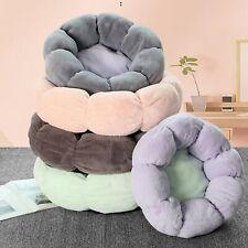 Round Flower Dog Bed for Small Large Dogs Soft Velvet Cat Mat Pet Deep Sleeping