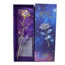Led Light 24K Gold Romantic Rose Flower for Girlfriend Wife Valentine's Day Gift