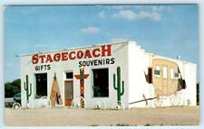SMITH CENTER, Kansas KS ~ Roadside Gifts STAGECOACH TRADING POST 1958  Postcard