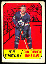 1967 68 TOPPS HOCKEY #12 PETER STEMKOWSKI VG-EX TORONTO MAPLE LEAFS CARD