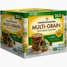 🔥 Crunchmaster 5 Seed Multi-Grain Crackers (10 oz., 2 ct.) 🔥 Total 20oz