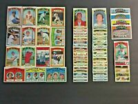 (Lot of 65) 1972 Topps Baseball Cards (WILLIAMS, Stars, Rookies) EX-NM & NM LT11