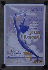 Affiche VILLE DE NANTES / LOTERIE NATIONALE / TRANCHE DE L'AVIATION 1939 / 40x60