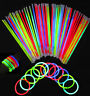 "50/100/200 8"" Glow Sticks Bracelets Necklaces Party Favors Neon Color +Connector"