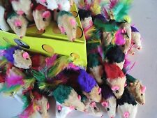 Cat toy 50 Real Short Colorful Fur Mice/catnip +++FREE 3 Miouse/Balls