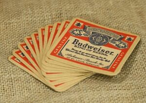 Lot of 10 Vintage Budweiser Coasters For All You Do This Bud's For You
