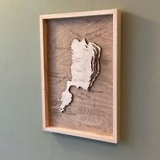 More details for bardsey island wooden topographic map gwynedd wales aberdaron llŷn peninsula